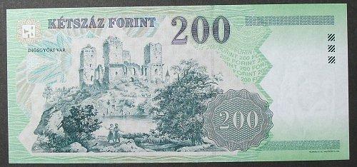 Hungary P187e 200 Forint UNC63