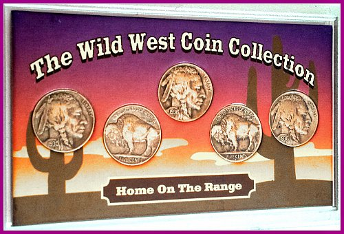 The Wild West 5-Coin Collection 1930-1939-S Buffalo Nickels