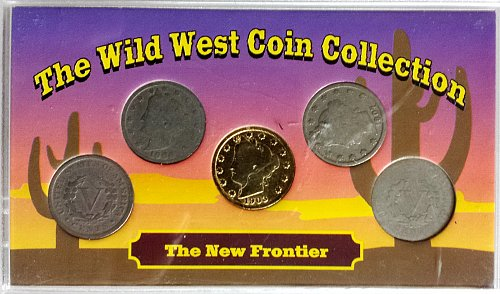 Wild West New Frontier: 5 Liberty Head Nickel Collection (1903-1907)