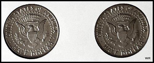 2 X 1989 UNC JFK Half Dollars