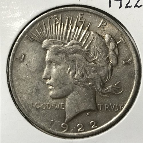 1922 P Peace Dollar - Normal Relief