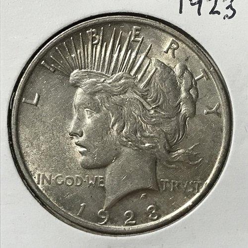 1923 P Peace Dollar