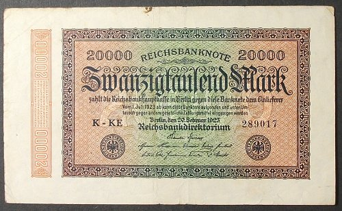 Germany P85a 20000 Mark VF