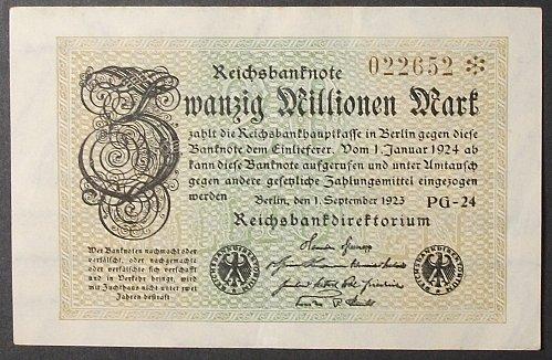 Germany P108c 20 Million Marks VF+