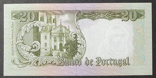 Portugal P167b 20 Escudos UNC65