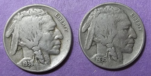 2 Buffalo Nickels LOT BN6m