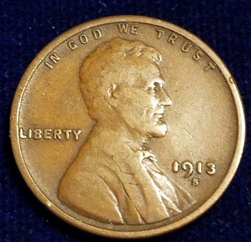 1913S VF LINCOLN CENT