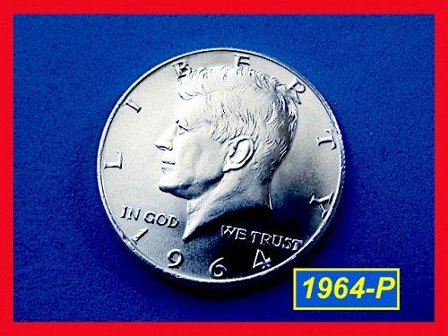 """1964-P Kennedy HALF ☆ Gem """"BU"""" ☆  (#1798)a"""
