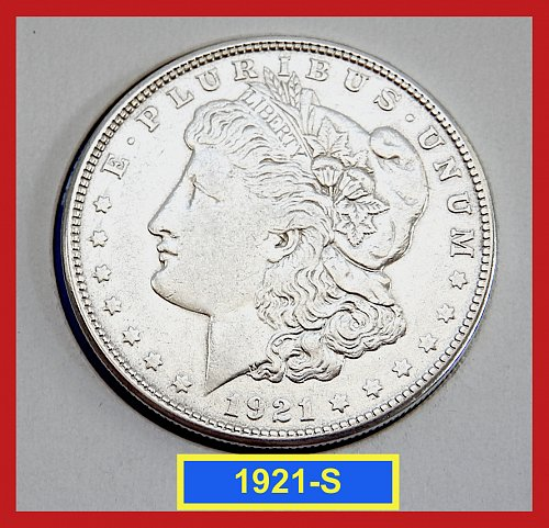 1921-S Morgan Silver Dollar ☆ Circulated ☆  (#5410)