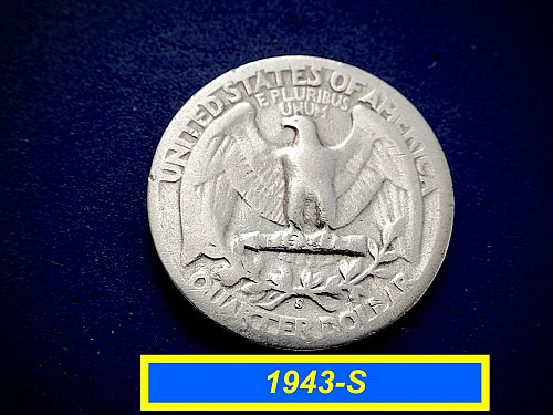 """1943-S SIlver Quarters ☆  """"Circulated"""" ☆ (#2056)"""