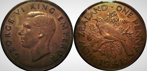 New Zealand 1941 Penny - Key Date       0165