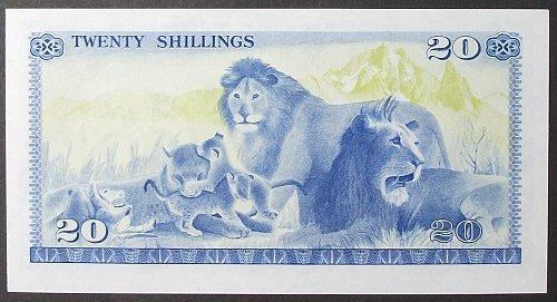 Kenya P17 20 Shillings AU