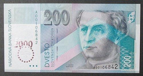 Slovakia P37 200 Korun UNC63
