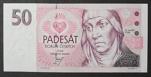 Czech Republic P4a 50 Korun UNC60