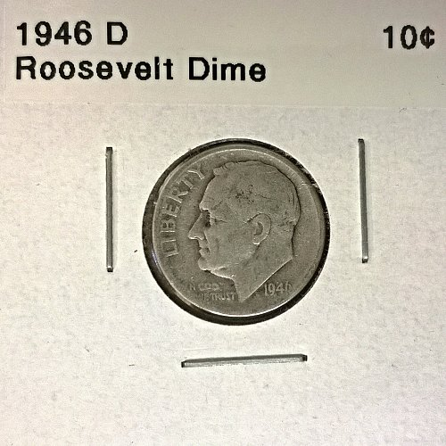 1946 D Roosevelt Dime - 6 Photos!
