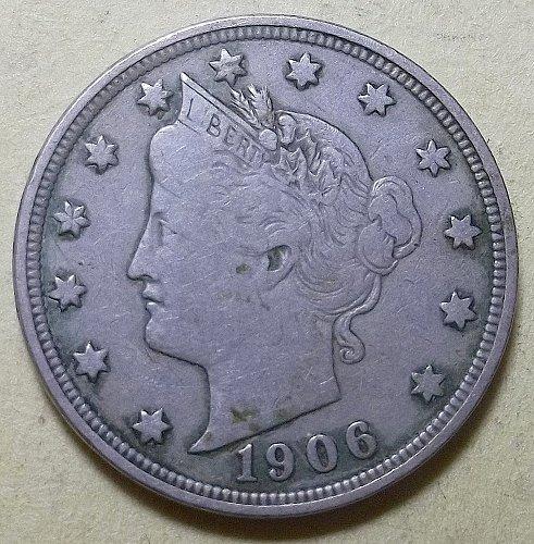 1906 P Liberty Nickel Lot LBN6P