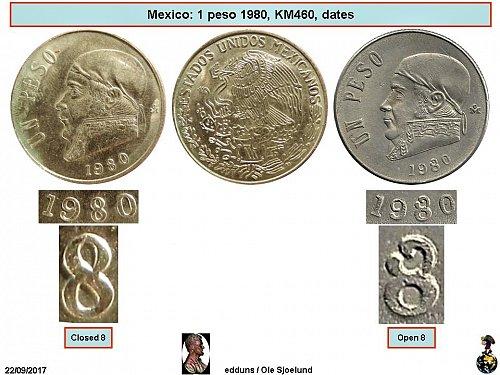 Mexico 1980 1 Peso – Open 8 0169