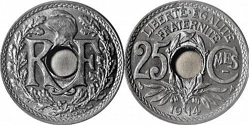 France 1914 25 Centimes     0170