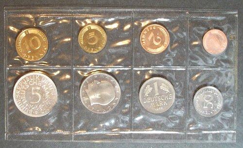 1965 Germany Proof Set, Karlsruhe Mint