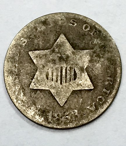 1853 Three Cent Piece - Silver