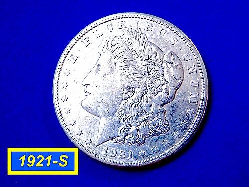 "1921-S Morgan Silver Dollar ☆ ""VF"" ☆ (#5453)"