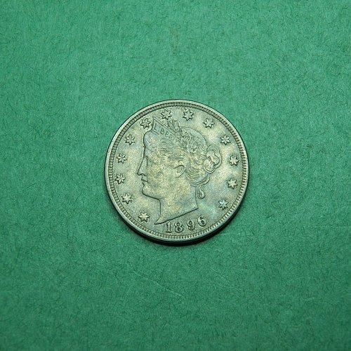 1896 Liberty V Nickel Very Fine Coin   o59