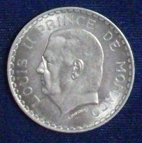 1945 Monaco 5 Francs UNC