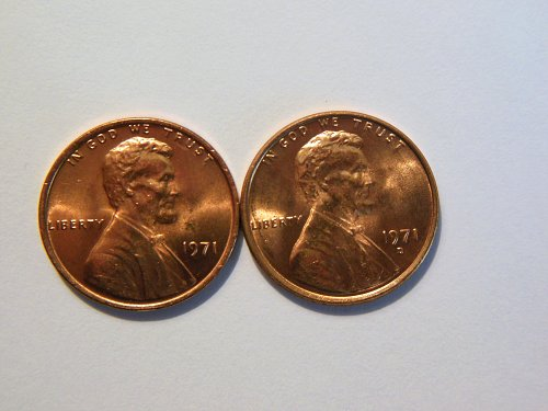 1971-P & D Lincoln Memorial Cents