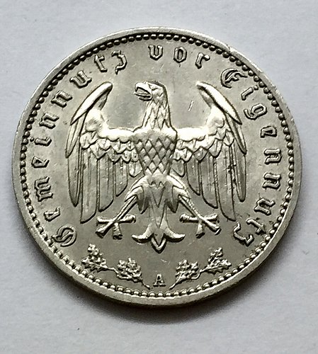 1933 A 1 Reichsmark - Germany