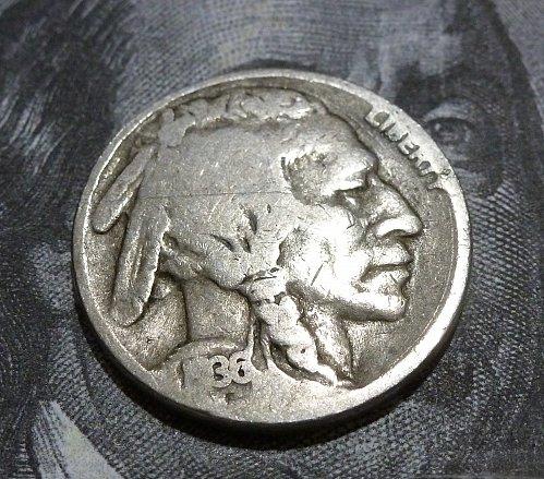 1936 D Buffalo Nickel All Original Coins #18620