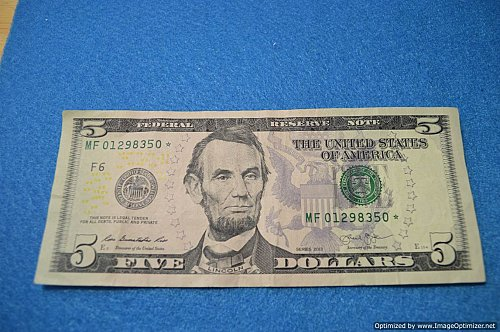 2013 $5 STAR NOTE