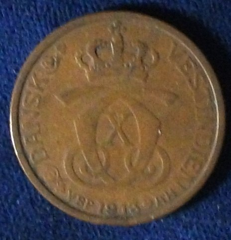 1913 Danish West Indies Cent VF