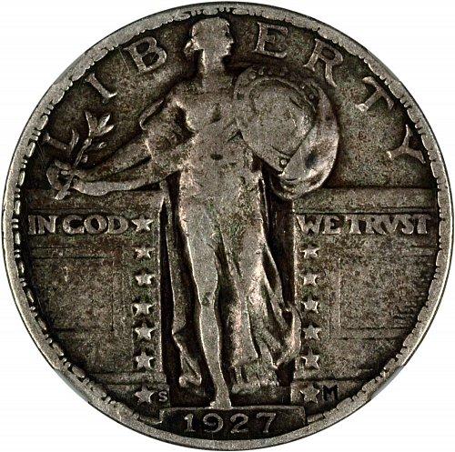 1927-S SLQ Standing Liberty Quarter NGC VF20 - ToughCOINS