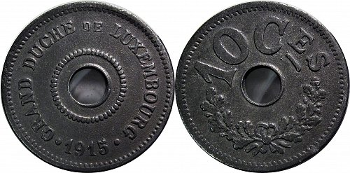 Luxembourg 1915 10 Centimes     0175