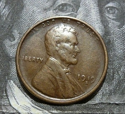 1919 S XF Lincoln Wheat Cent Extra Fine  # 18592