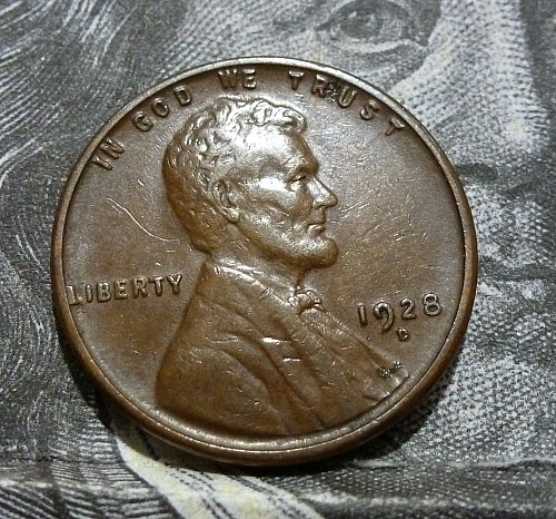 1928 D AU Lincoln Wheat Cent About Uncirculated  # 18589