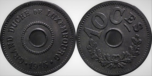 Luxembourg 1915 10 Centimes     0176