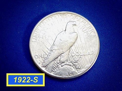 "1922-S Peace Silver Dollar ☆ ""Circulated"" ☆ (#5447)"