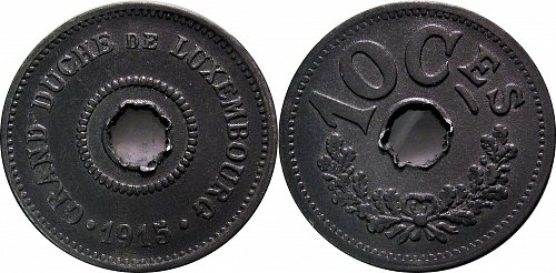 Luxembourg 1915 10 Centimes     0177