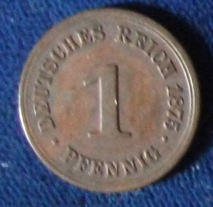 1875B Germany Pfennig XF