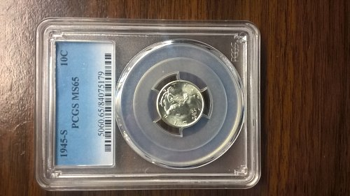1945-S Mercury Dime 10C PCGS MS65 - To me a Very Nice Looking Coin