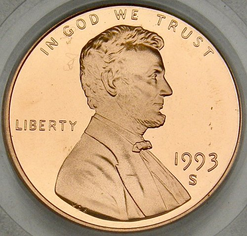 1993 S LINCOLN MEMORIAL CENT DCAM69 PROOF