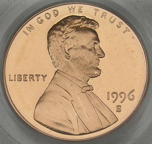 1996 S LINCOLN MEMORIAL CENT DCAM69 PROOF