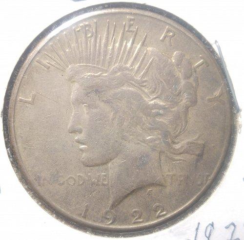 1922 S PEACE DOLLAR  --  N E W   P R I C E 7/27/2020