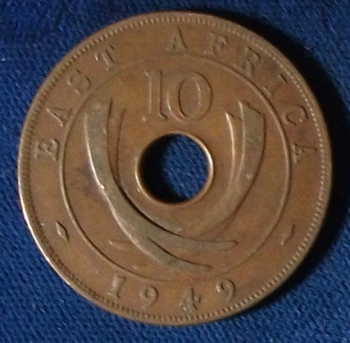1949 East Africa 10 Cents VF++