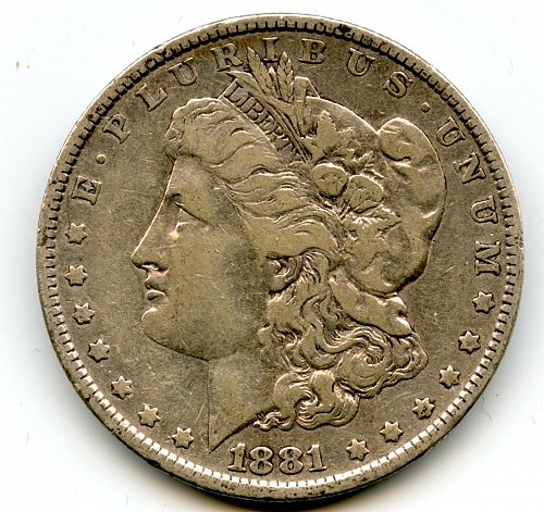 1881 Morgan Silver Dollar