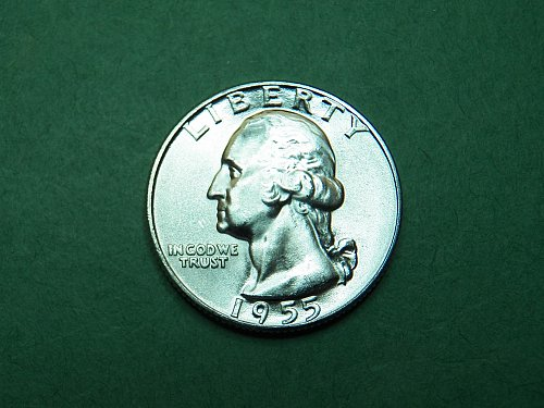 1955 P Washington Quarter Gem Uncirculated Coin   h31