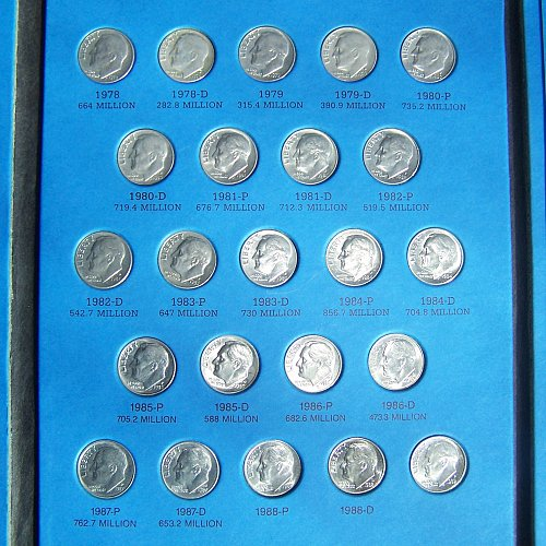 Roosevelt Dime Collection: Starting 1965