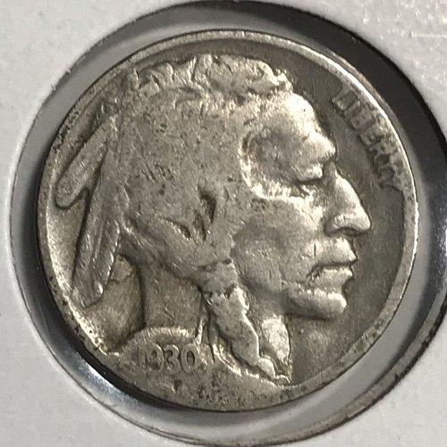 1930 P Buffalo Nickel