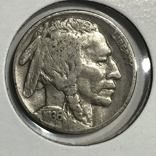 1936 P Buffalo Nickel